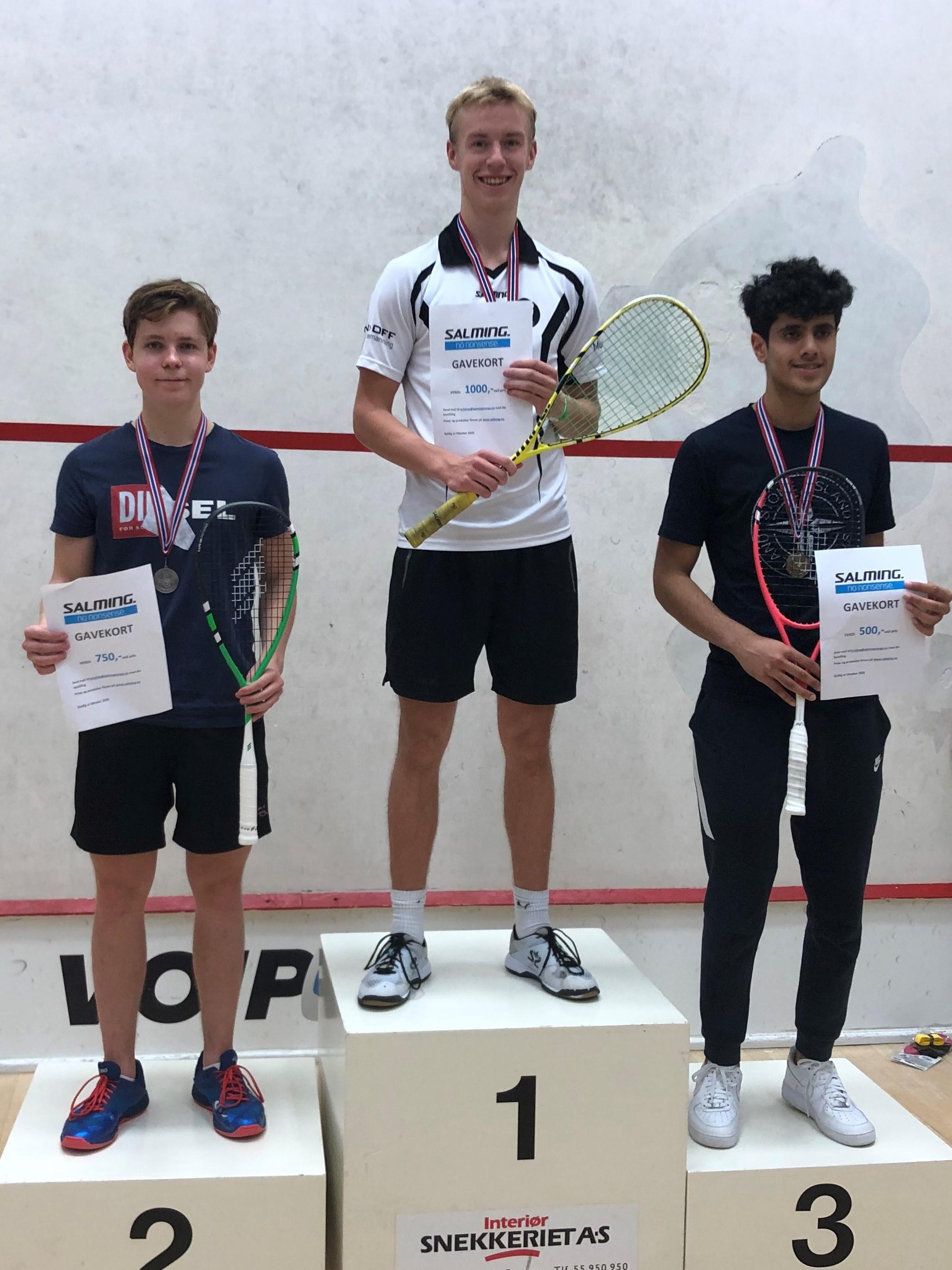 Andreas vant finalen i U19
